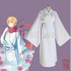 New! Anime Noragami Yukine Cosplay Costume White Kimono Yukata