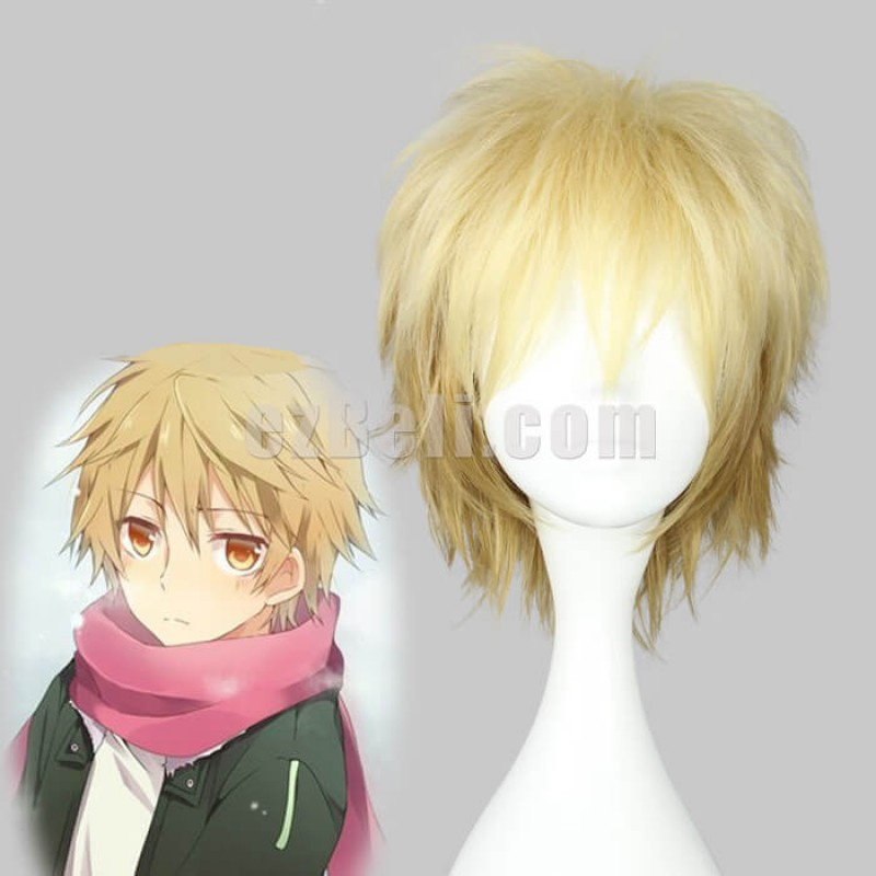 New! Anime Noragami Yukine Short Blonde Cosplay Wig