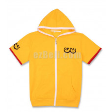 New! Anime Oppai One punch-man Saitama Short Sleeves Casual Cosplay Hoodie Jacket