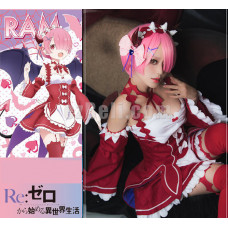 New! Re:Zero Life In A Different World From Zero RAM Dress Little Devil Cosplay Maid Dress Cosplay Costume