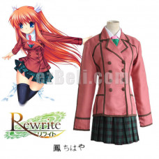 New! Anime Rewrite Chihaya Ohtori Girl School Uniform Cosplay Costumes