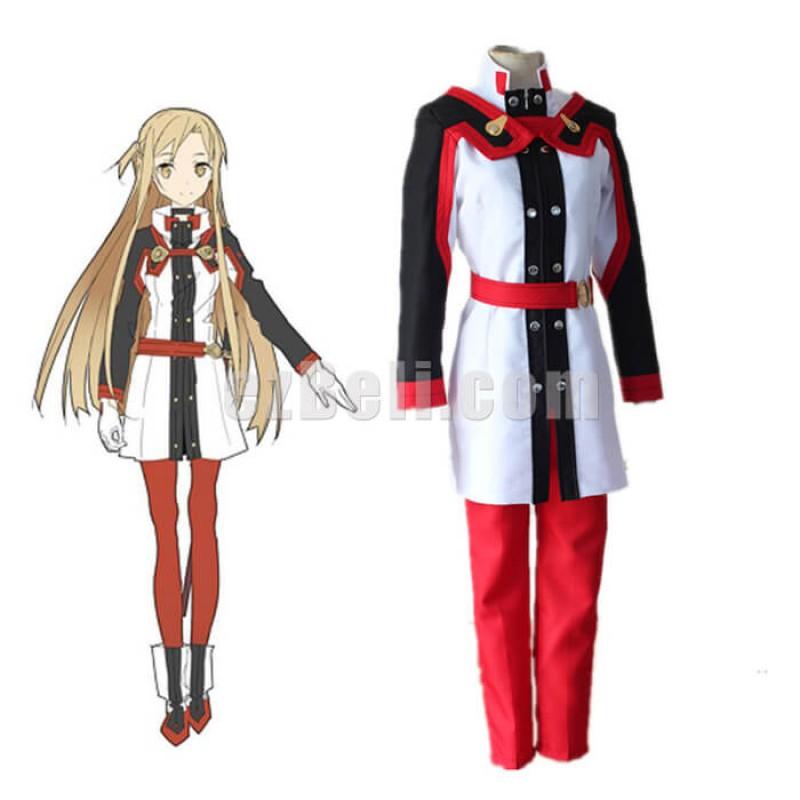 New! Anime SAO Sword Art Online Ordinal Scale Asuna Yuuki Yuki Uniform Cosplay Costumes