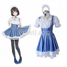 New! Anime Saekano Saenai Heroine No Sodate-Kata Cosplay Megumi Kato Katou Megumi Kawaii Maid Dress Cosplay Costume