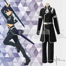New! Anime SAO Sword Art Online Alicization Kirigaya Kazuto Black Uniform Cosplay Costumes