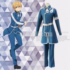 New! Anime SAO Sword Art Online Alicization Eugeo Blue Uniform Cosplay Costumes