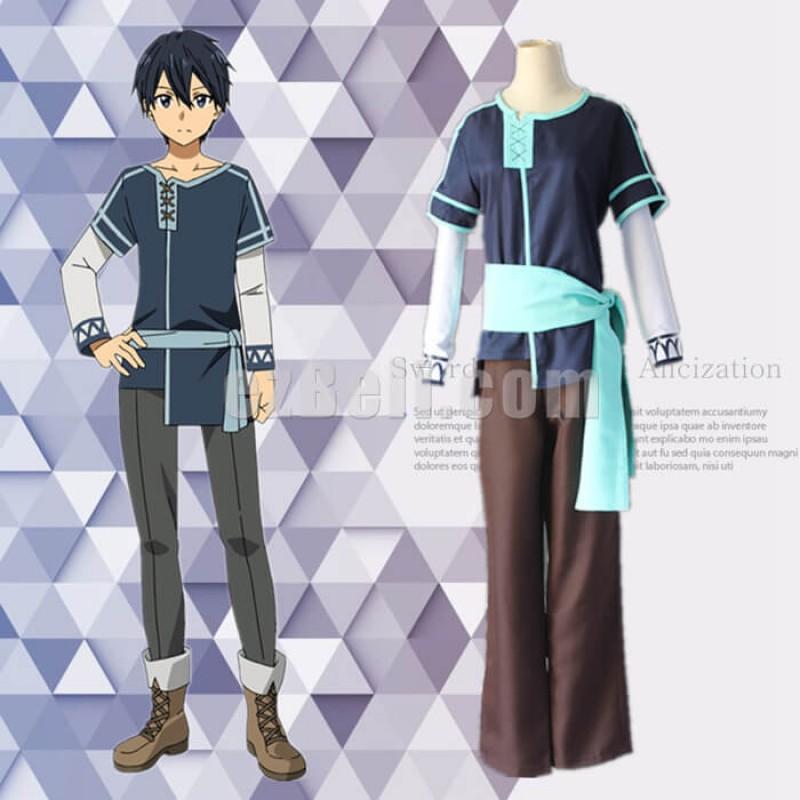 New! Anime SAO Sword Art Online Alicization Kirigaya Kazuto Adult Cosplay Costumes