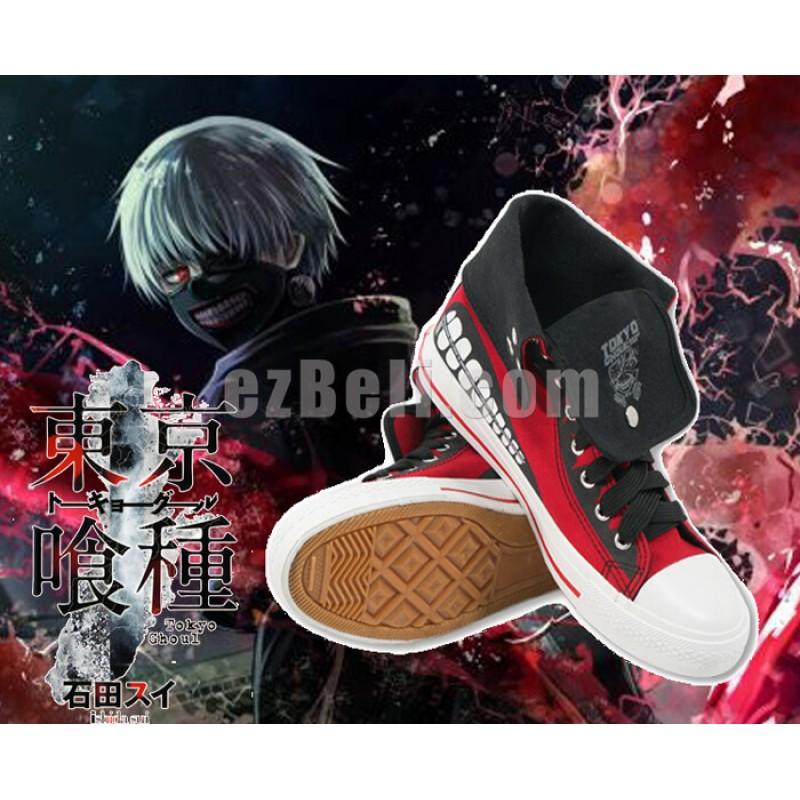 New! Anime Tokyo Ghoul Ken Kaneki Casual Cosplay Sneakers Shoes