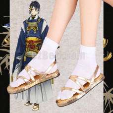 New! Touken Ranbu Mikazuki Munechika Shoes Cosplay Sandals With Socks
