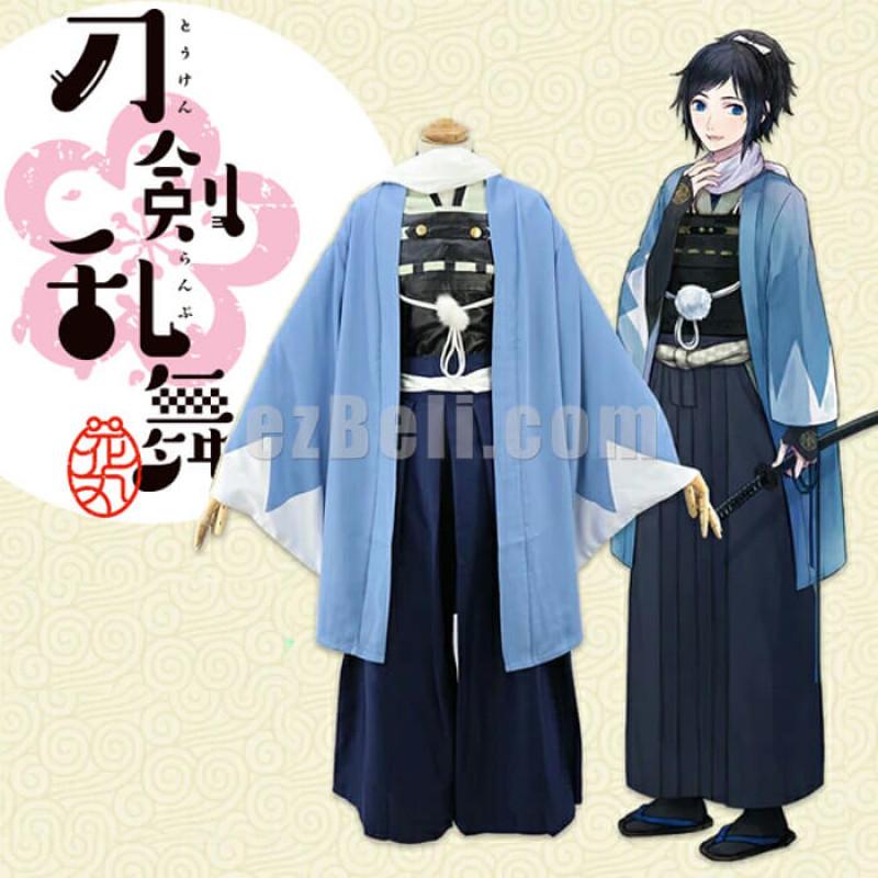 New! Anime Touken Ranbu Online The Sword Dance Yamatonokami Yasusada Cosplay Costumes Kimono Fighting Suit