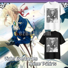 New! Anime Violet Evergarden Violet Evergarden Print Casual Cosplay T-Shirt