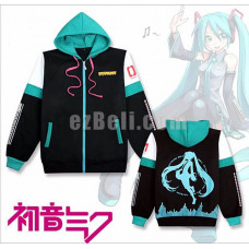 New! Vocaloid Hatsune Miku Thick Warm Long Sleeves Hoodie Jacket