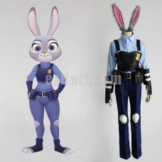 New! Anime Zootopia Zootropolis Cosplay Costumes Judy Hopps Police Uniform