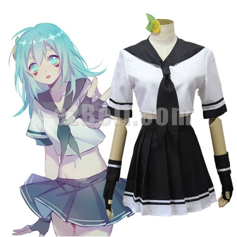 New! Anime Aotu World Cosplay Lemon Anlijie School Uniform Cosplay Costume