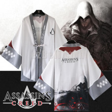 New! Anime Cosplay Assassin's Creed Chiffon Japanese Kimono Yukata