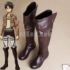 Attack on Titan 進撃の巨人 Shingeki no Kyojin High Boots Cosplay