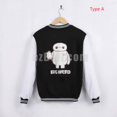 New! Big Hero 6 Baymax Baseball Jacket