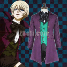 New! Black Butler Kuroshitsuji Alois Trancy Anime Cosplay Costume