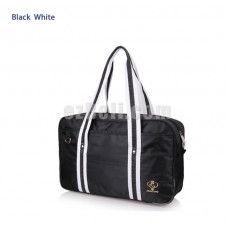 New! Popular Black White Japanese Student School Bag Backpack Cosplay Bag