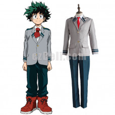 New! My Hero Academia Boku no Hero Academia Izuku Midoriya High School Uniform Cosplay Costume
