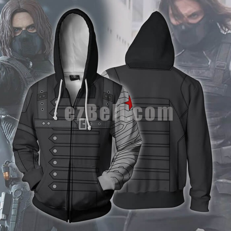 New! Anime Captain America Sweatshirts Winter Soldier Casual Cosplay Jacket