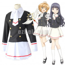 New! Anime Cardcaptor Sakura Clear Card Sakura Kinomoto Tomoyo Daidouji School Uniform Cosplay Costume Sailor Dress