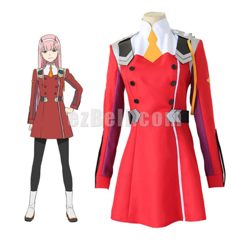 New! Anime DARLING in the FRANXX ZERO TWO CODE 002 Cosplay Costume
