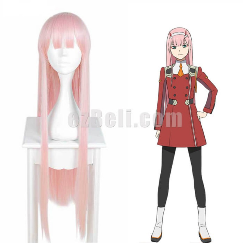 New! Anime DARLING in the FRANXX ZERO TWO CODE 002 Cosplay Wig
