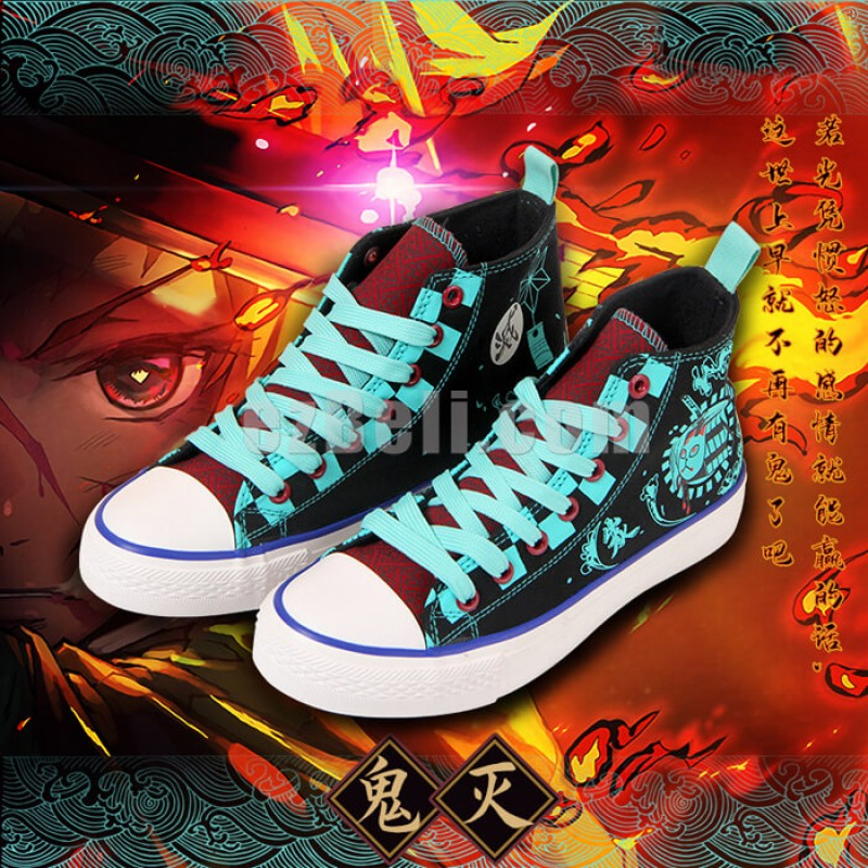 New! Anime Demon Slayer Kimetsu no Yaiba Casual Cosplay Shoes Sneakers