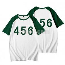 Squid Game Shirt Korean Drama  456 Green Loose T-Shirt Costume Cosplay