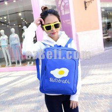 New! Egg Pattern Japanese Trendy Backpack Student School Bag