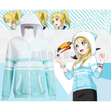 New! Love Live! Eli Ayase Animal Unawakened Anime Stylish Cosplay Hoodie Jacket