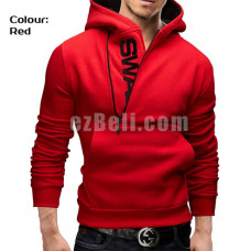 New! Fashion Side Zipper Pullover Casual Hoodie Sweater