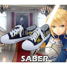 New! Fate/stay Night Anime Fate Zero Saber Casual Canvas Shoes Type A