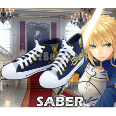 New! Fate/stay Night Anime Fate Zero Saber Casual Canvas Shoes Type B