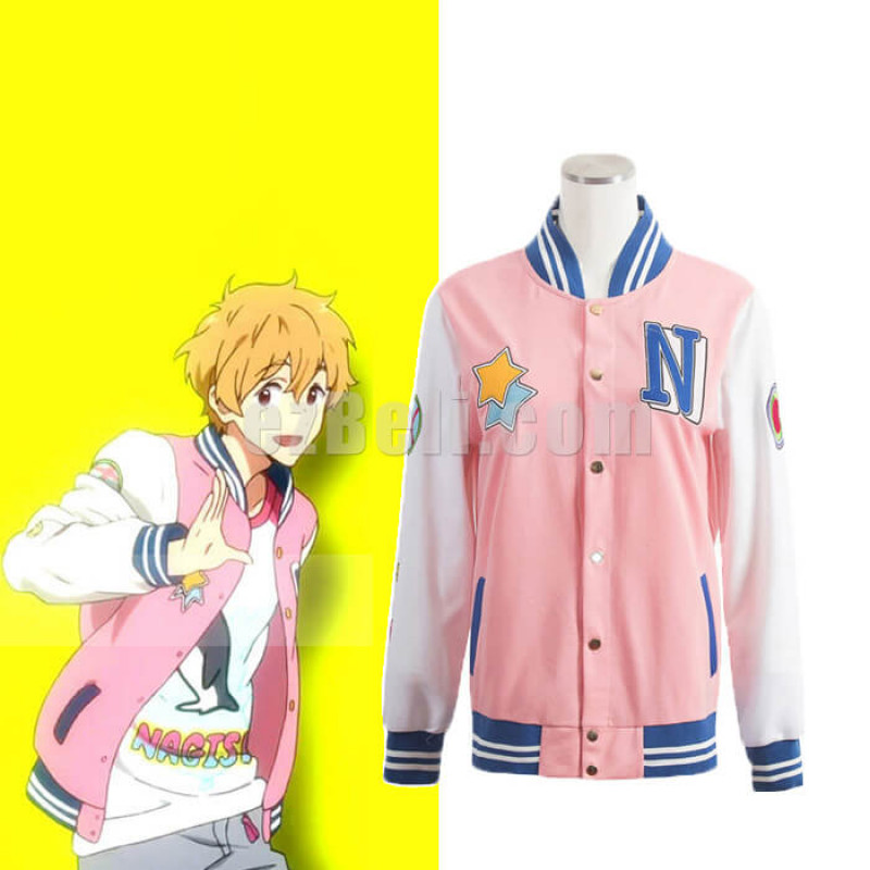 New! Free! Iwatobi Swim Club Nagisa Hazuki Baseball Jacket Cosplay Costume