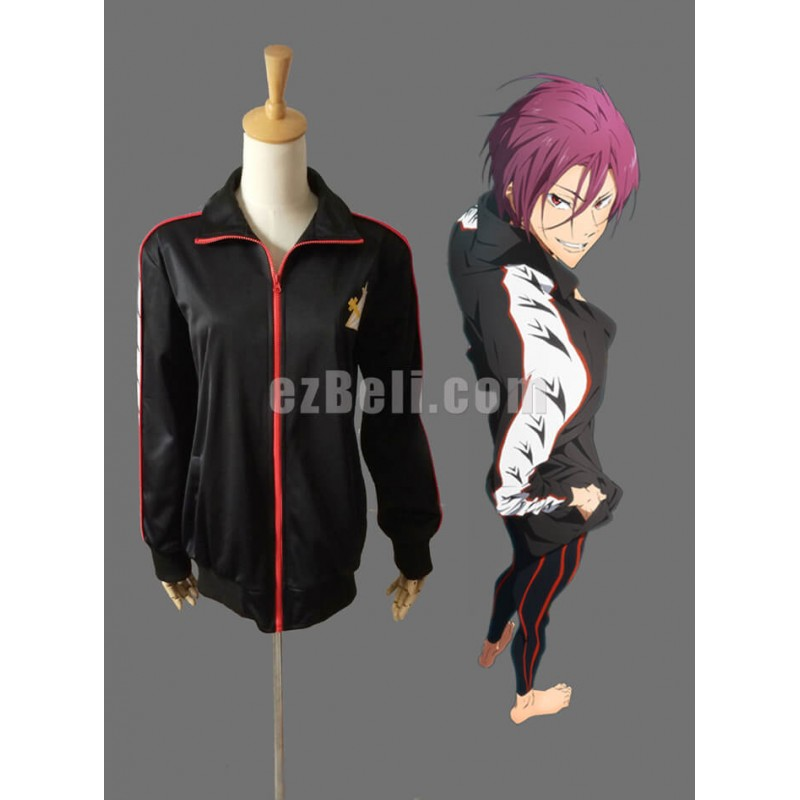 New! Free! Iwatobi Swim Club Rin Matsuoka Cosplay Jacket