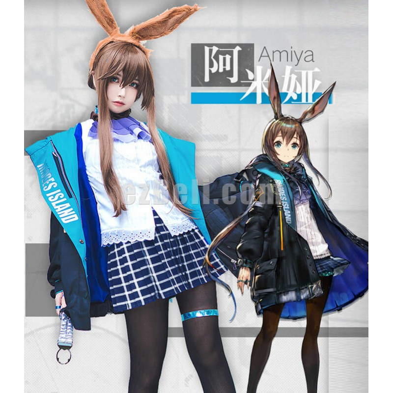 New  Game Arknights Amiya Cosplay Costume Outfit Jacket