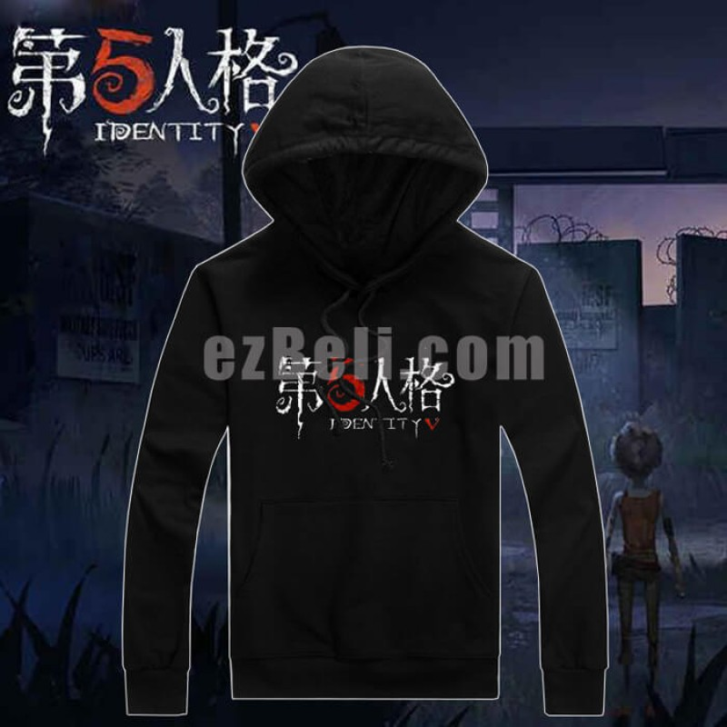 New! Game Identity V Black Long Sleeves Hoodie Sweater Casual Cosplay