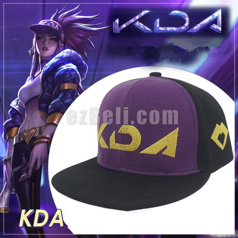 New! Game LOL KDA Akali Cosplay Props Hats Men Woman Hip Hop Cap Canvas Hand Embroidery Baseball Caps
