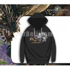 New! Game Monster Hunter World Casual Cosplay Black Men Women Sweater Hoodie