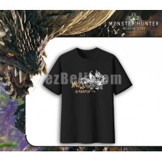 New! Game Monster Hunter World Casual Cosplay Black Men Women Shirt