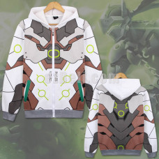 New! Game Overwatch Genji Sweatshirt Casual Cosplay Costume Long Sleeves Hoodie Jacket