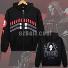 New! Game Overwatch Reaper Sweatshirt Casual Cosplay Costume Long Sleeves Hoodie Jacket