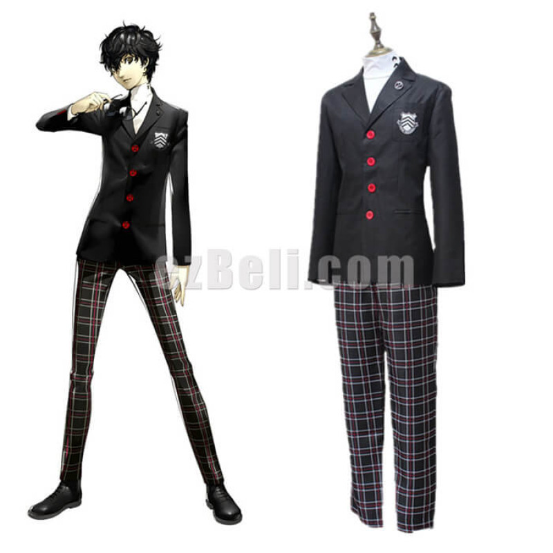 New! Anime Game Persona 5 Protagonist Uniform Cosplay Costume