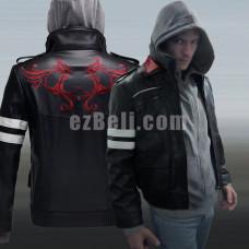 New! Game Prototype Alex Mercer PU Leather Biker Jacket Coat Costumes