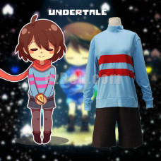 New! Game Undertale Frisk Kiddo Cosplay Costume Men Women Sweatshirt and Shorts Party Role Play Costumes