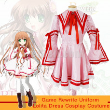 New! Games Rewrite Konohana Lucia Lolita Dress Kanbe Kotori Uniform Cosplay Costumes