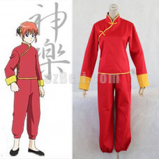 New! Gintama Silver Soul Kagura Red Cosplay Costume
