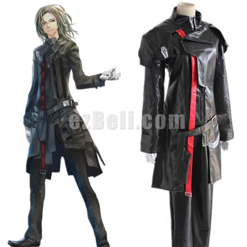 New! Guilty Crown Gai Tsutsugami Black Cosplay Costume