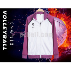 New! Haikyū!! Shiratorizawa Academy Tracksuits Cosplay Jacket Costume